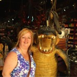 Shelley with Gator